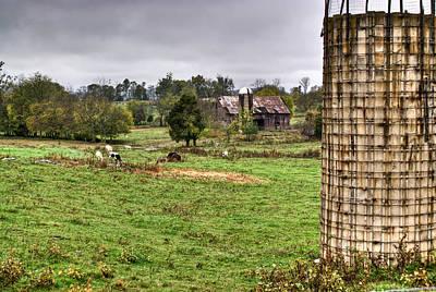 Grey Clouds Photograph - Rainy Day On The Farm by Douglas Barnett