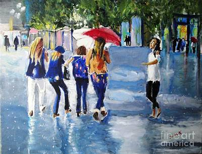 Portrait Painting - Rainy Days And Mondays by Judy Kay