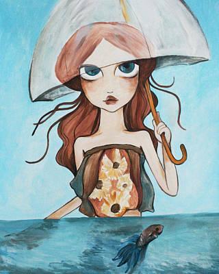 Rainy Days Print by Dania Piotti