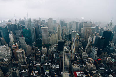 Photograph - Rainy New York City by Thomas Richter