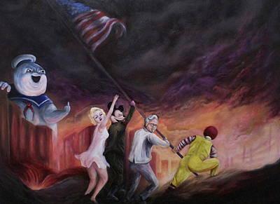 Raise Your Flag Print by Alex Kirouac