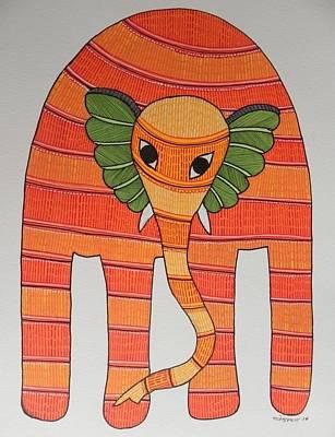 Gond Art Painting - Raju 147 by Rajendra Shyam