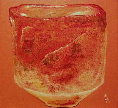 Raku Painting - Raku Ni by Nick Young