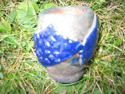 Raku Ceramic Art - Raku Pinch Pot by Julia Van Dine