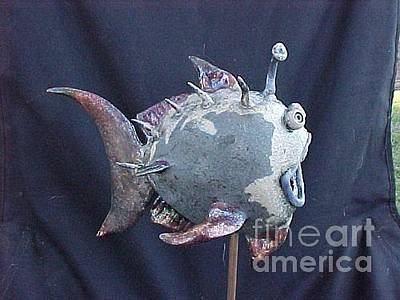 Ceramic Crab Sculpture - raku Stone Ware by Tony Longo