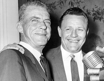 Ralph Houk Smiling Alongside Johnny Keane. 1964 Print by William Jacobellis