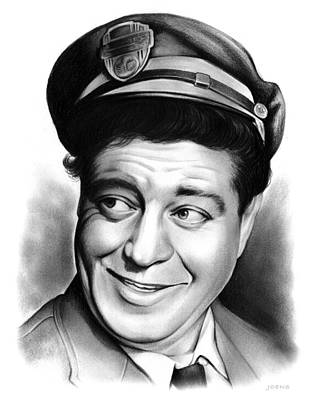 Jackie Gleason Drawing - Ralph Kramden by Greg Joens
