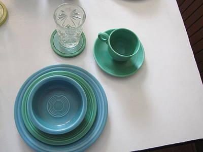 Fiestaware Photograph - Ralphie's Breakfast Dishes by Kelly Mezzapelle