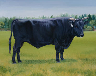 Kobe Painting - Ralphs Bull by Stacey Neumiller