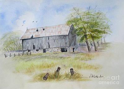 Rama Township Barn Original by April McCarthy-Braca