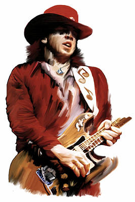 Stevie Ray Vaughan Drawing - Rampage  Stevie Ray Vaughan by Iconic Images Art Gallery David Pucciarelli