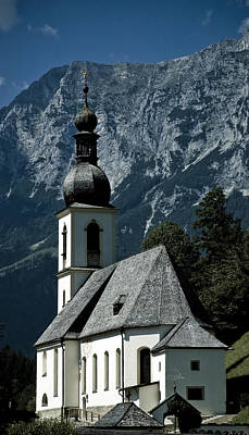 High Tower Photograph - Ramsau Church by Frank Tschakert