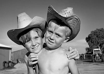 Cowboys Photograph - Ranch Kids by Buddy Mays