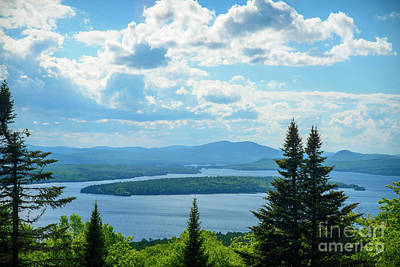 Maine Landscapes Photograph - Rangeley Height Of Land by Alana Ranney