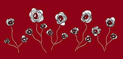 Garden Painting - Ranunculus by Frank Tschakert