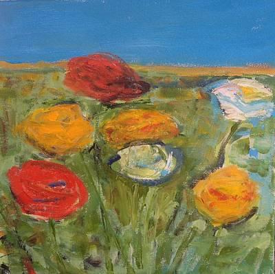 Flowerfield Painting - Ranunculus Glory by Elisabeth Refn