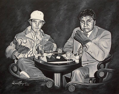 Hunter S. Thompson Painting - Raoul And Dr. Gonzo In Las Vegas by Daniel Bergren
