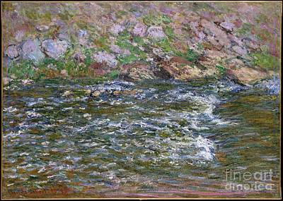 Music Painting - Rapids On The Petite Creuse At Fresselines by Celestial Images