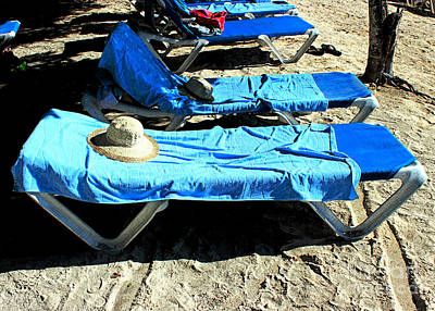Chaise Digital Art - Rapture By The Beach by Steve C Heckman