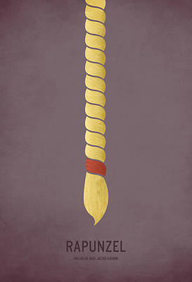 Minimalist Digital Art - Rapunzel by Christian Jackson