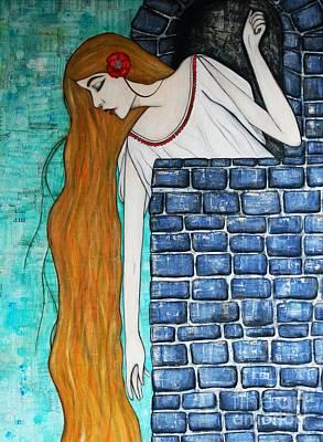 Painting - Rapunzel by Natalie Briney