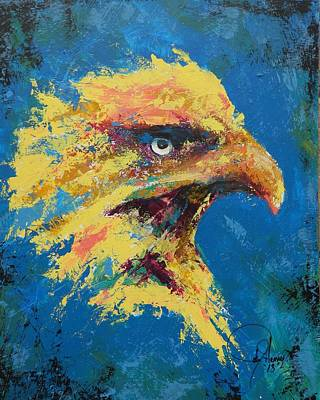Pallet Knife Painting - Rare Eagle by John Henne