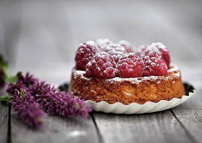 Sugar Photograph - Raspberry Tarte by Nailia Schwarz