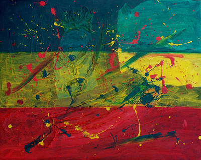 Bob Marley Abstract Painting - Rasta Splat by Frankie Graham