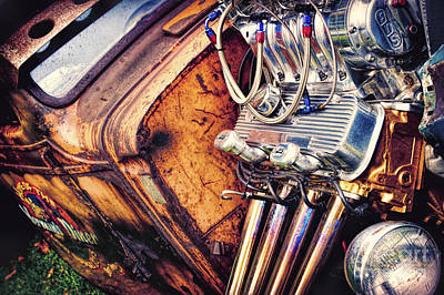 Headlight Photograph - Rat Power by Tim Gainey