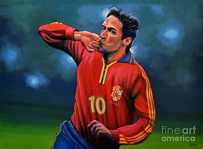 Athletes Painting - Raul Gonzalez Blanco by Paul Meijering