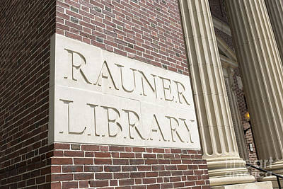 Library Photograph - Rauner Library Dartmouth College by Edward Fielding