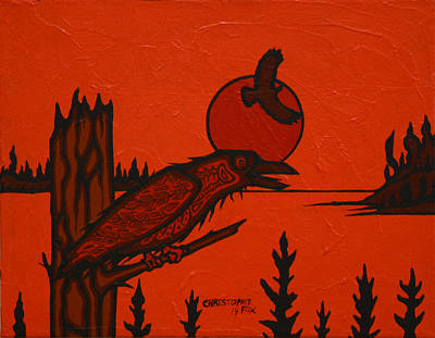 Lake Superior Art Gallery Painting - Raven by Christopher Fox