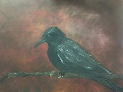 Raven Print by Lori Thompson
