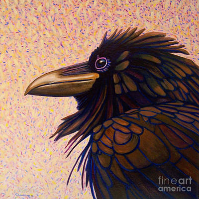 Raven Painting - Raven Shaman by Brian  Commerford