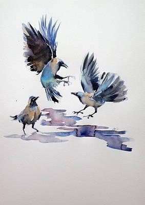 Ravens Print by Kovacs Anna Brigitta