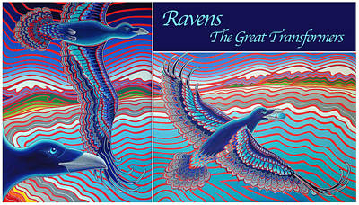 Transformer Drawing - Ravens - The Great Transformers by Karie Seven Eagles Garnier