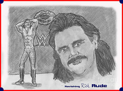 Ravishing Rick Rude Print by Chris  DelVecchio