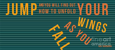 Ray Bradbury - Fall Print by Pablo Franchi