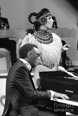 Cher Photograph - Ray Charles And Cher by Terry O'Neill