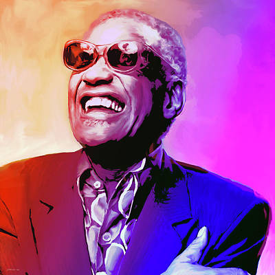 Ray Charles Print by Greg Joens