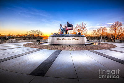Ray Charles Plaza Print by Marvin Spates