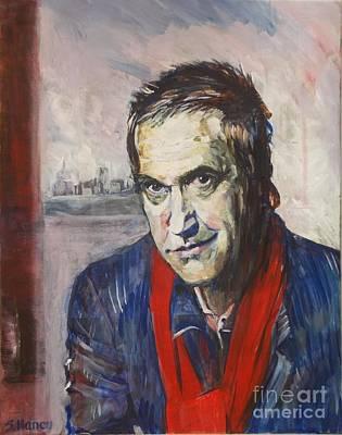Sky Writer Painting - Ray Davies, Waterloo Sunset by Sandra Haney