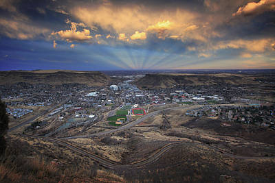 Outlook Photograph - Rays Over Golden by Brian Gustafson