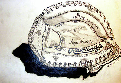 Drawing - Rcm 50 Lance Parrish by Jame Hayes
