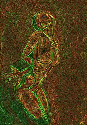 Colourfull Digital Art - Reach by Aiden Galvin
