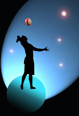 Volley Photograph - Reach For The Stars by Barbara  White