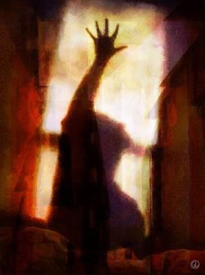 Reaching Up Digital Art - Reaching For The Light by Gun Legler