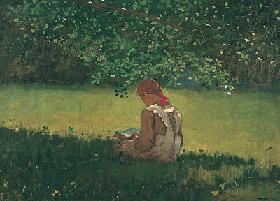 American Artist Painting - Reading By The Brook by Winslow Homer