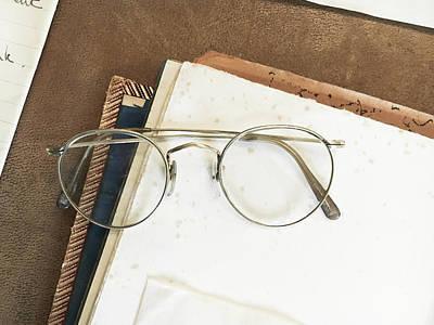 Reading Glasses Print by Tom Gowanlock