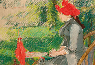 Reading In The Garden Print by Eva Gonzales